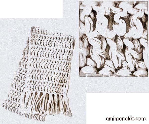編み図つきかぎ針編みキット初心者マフラー毛糸ピエロ4