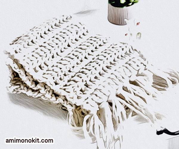 編み図つきかぎ針編みキット初心者マフラー毛糸ピエロ1