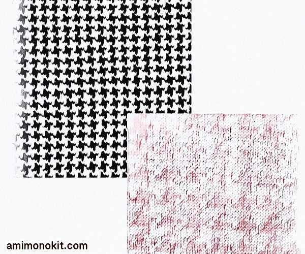 棒針編み無料編み図千鳥格子のペアセーター4