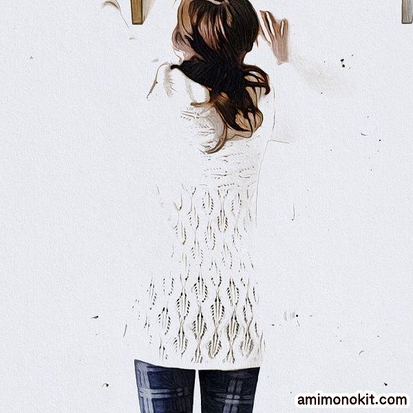 棒針編みワンピース無料編み図毛糸ザッカストアーズ2