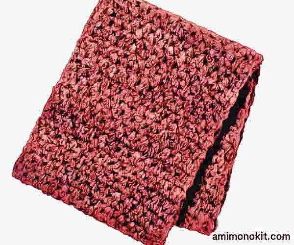 かぎ針編み無料編み図カグールになるスヌード超極太毛糸で3