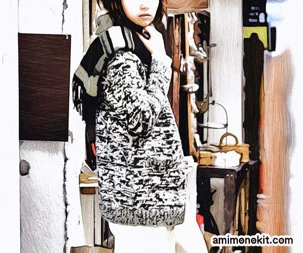 棒針編み無料編み図カーディガン毛糸ピエロ作品214w-02ロングカーディガン4