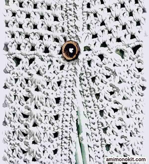 無料編み図かぎ針編みコットンウールのチュニック作品♪213w-13