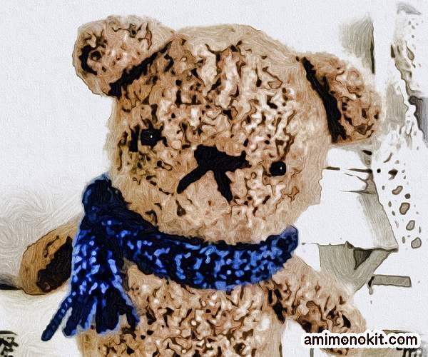 無料編み図くまの編みぐるみふんわり柔らかカワイイ2