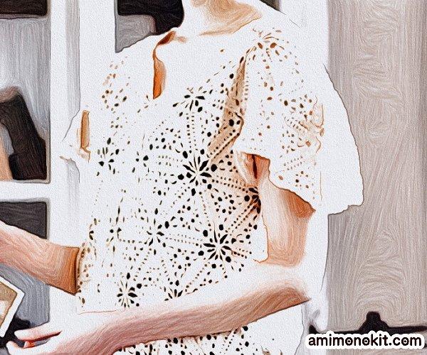 無料編み図プルかぎ針モチーフ編みセーター愛らしい三角3
