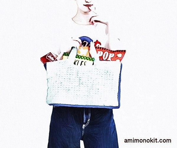 無料編み図夏バッグかぎ針編みスクエアタイプ丈夫2