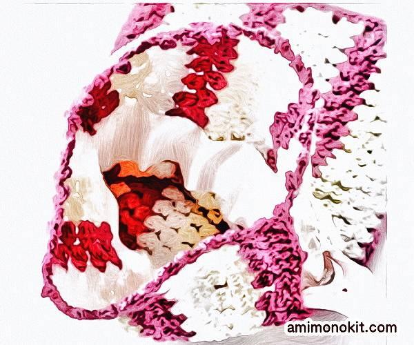無料編み図ポーチ母の日プレゼント贈り物巾着かぎ針編み5