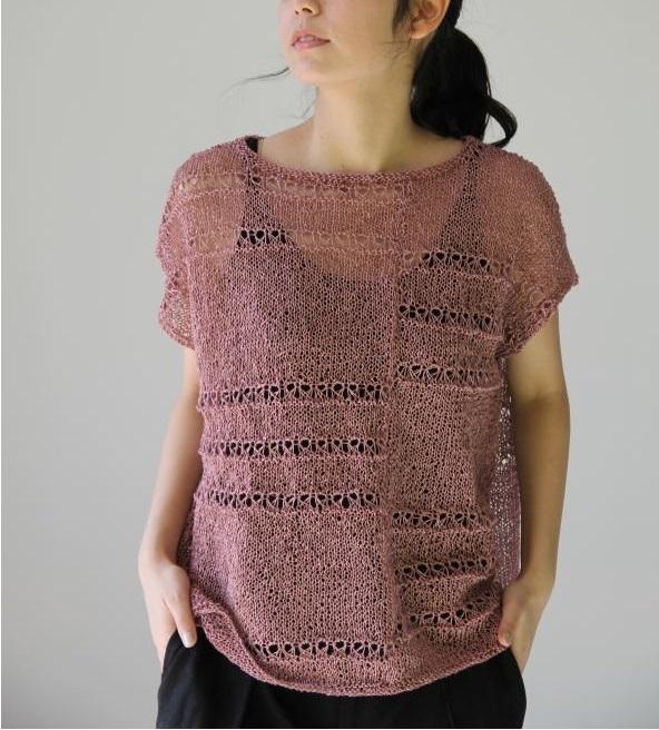 サマーセーター編み物キット野呂英作麻衣ゆったりプルオーバー