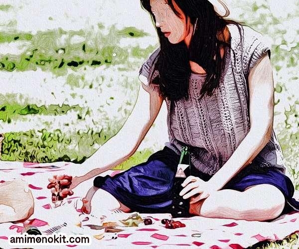無料編み図サマーセーター棒針編みフレンチスリーブ1