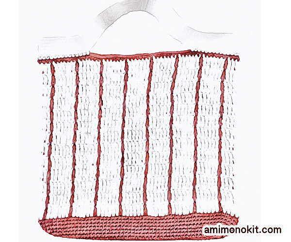 無料編み図バッグかぎ針編み小さめエコバッグ女子手提げ愛らしい3