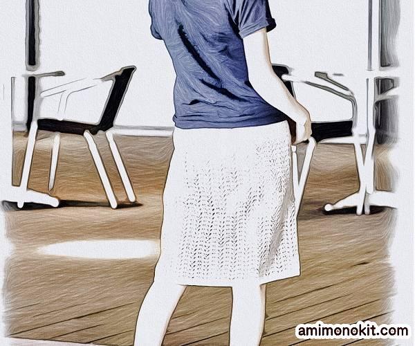 無料編み図スカートかぎ針編みレース透かし模様のタイトスカート4