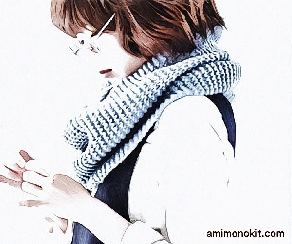 編み物キット棒針編み二重に巻けるスヌード1