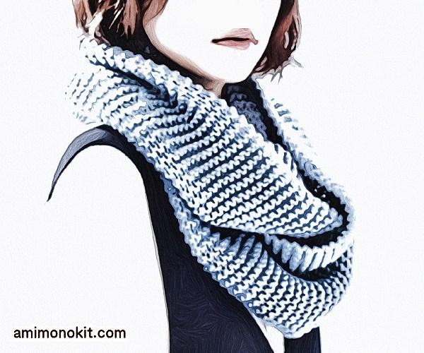 編み物キット棒針編み二重に巻けるスヌード3