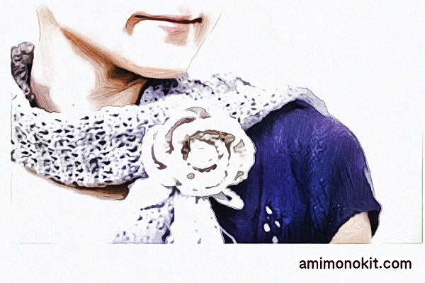 無料編み図ストールかぎ針編み冷え防止冷えすぎ予防ショール2