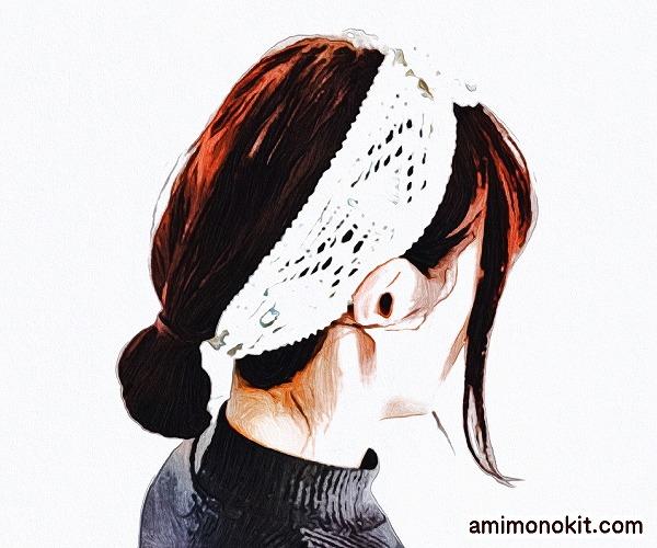 無料編み図ターバン髪ヘアバンド棒針編みヘアアクセサリー4