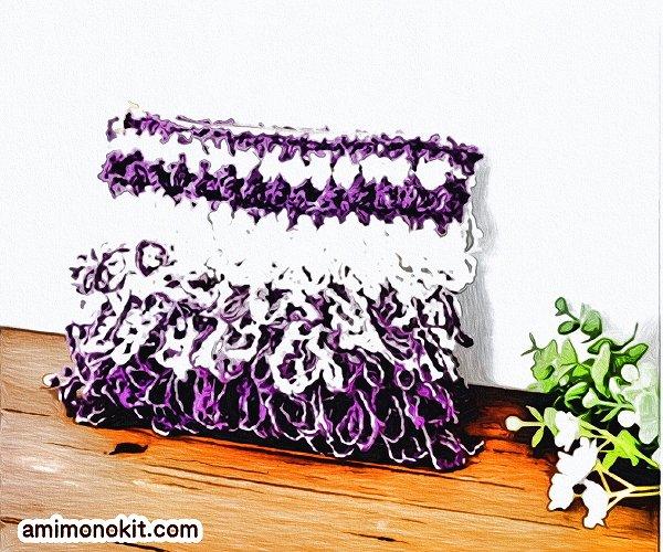 無料編み図ポーチかぎ針編みリング編みポップ可愛い小物1