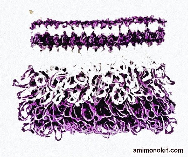無料編み図ポーチかぎ針編みリング編みポップ可愛い小物