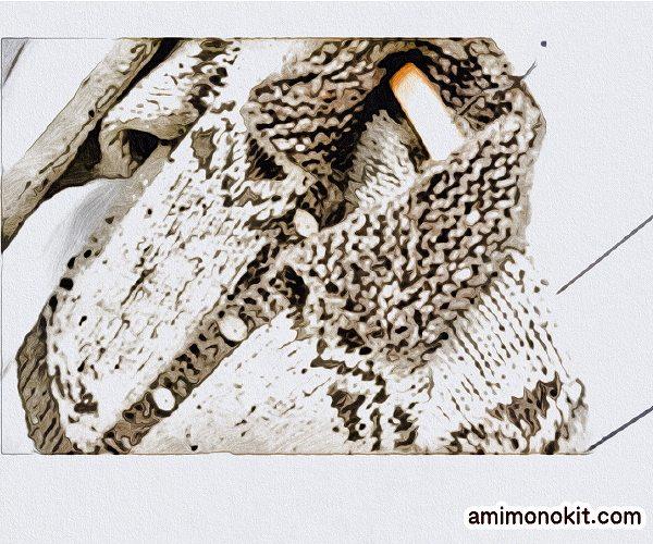 無料編み図カウチン風カーディガンジャケット可愛いあったか3