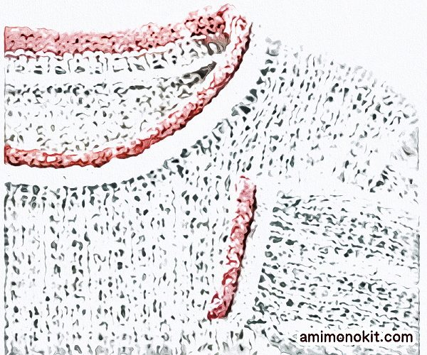 無料編み図セーター棒針編み柔らかなロールネックふわっと軽い2