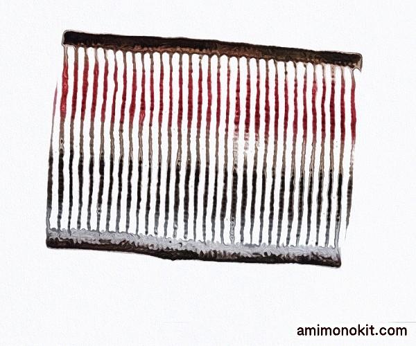 無料編み図スヌード2玉棒針編みロングピッチグラデーション3