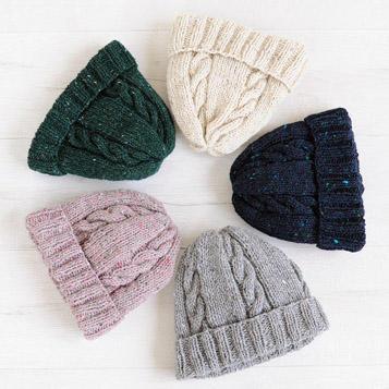棒針編みAMU-178ハマナカ無料編み図ニット帽