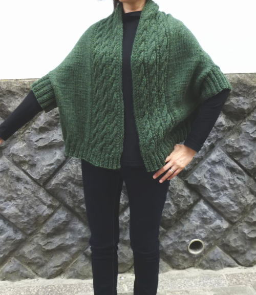 棒針編みまっすぐベスト無料編み図つき編み物キット