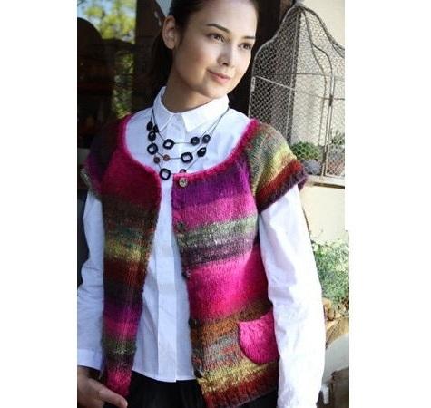 野呂英作くれよん棒針編みカーディガン編み物キット