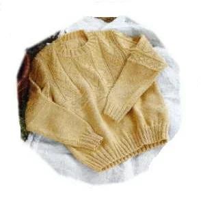 棒針編みセーターH144-003ハマナカアメリー地模様のプル
