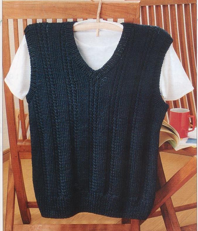 棒針編みメンズベスト編み物キット毛糸メンズクラブマスター