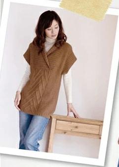 棒針編みチュニックベスト毛糸アルパカ