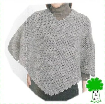 ハマナカ編み物キットソノモノHset-311アルパカリリーのマントポンチョ