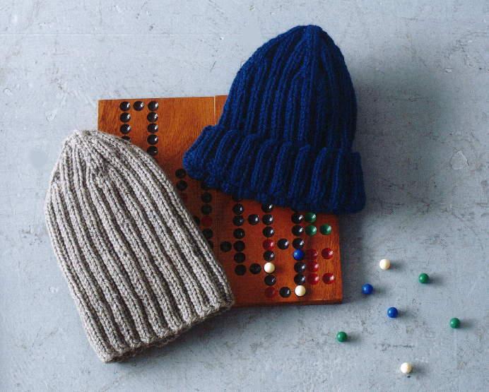ハマナカ毛糸メンズクラブマスターのニット帽編み物キット