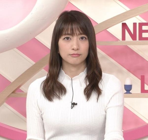 笹崎里菜のニットおっぱいがタイトでエロ過ぎる!!&中川絵美里、内田敦子 (1)