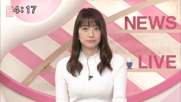 笹崎里菜のニットおっぱいがタイトでエロ過ぎる!!&中川絵美里、内田敦子 (5)