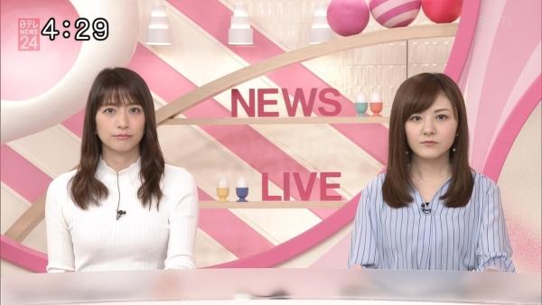 笹崎里菜のニットおっぱいがタイトでエロ過ぎる!!&中川絵美里、内田敦子 (7)