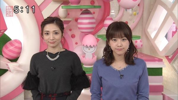 笹崎里菜のニットおっぱいがタイトでエロ過ぎる!!&中川絵美里、内田敦子 (10)