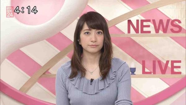 笹崎里菜のニットおっぱいがタイトでエロ過ぎる!!&中川絵美里、内田敦子 (12)