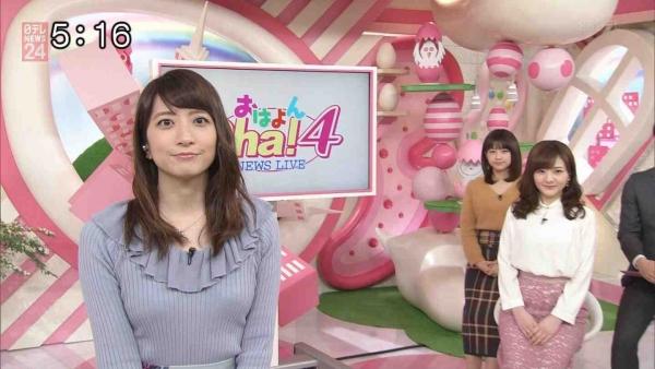 笹崎里菜のニットおっぱいがタイトでエロ過ぎる!!&中川絵美里、内田敦子 (14)