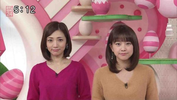 笹崎里菜のニットおっぱいがタイトでエロ過ぎる!!&中川絵美里、内田敦子 (20)
