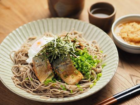 サバ納豆蕎麦の大根おろし味006
