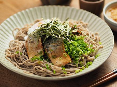 サバ納豆蕎麦の大根おろし味013