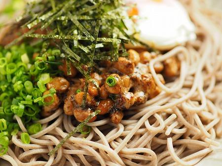 サバ納豆蕎麦の大根おろし味019