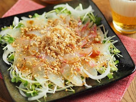 鯛と新玉ねぎの中華風サラダ009