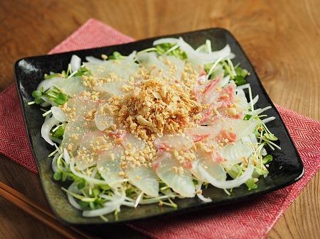 鯛と新玉ねぎの中華風サラダ002