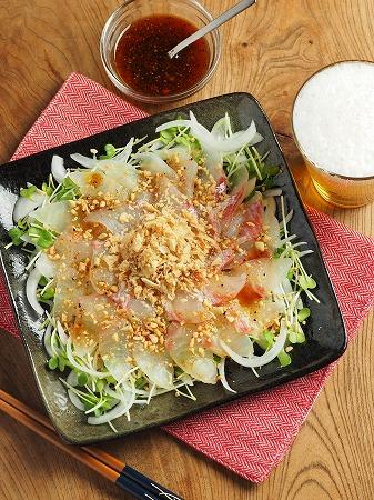 鯛と新玉ねぎの中華風サラダ017