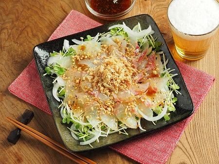 鯛と新玉ねぎの中華風サラダ018