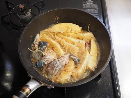 サバ缶と新筍の生姜煮039