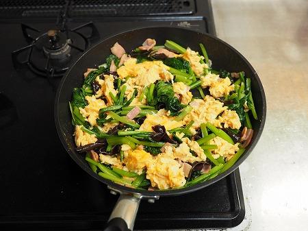 小松菜の卵炒め038