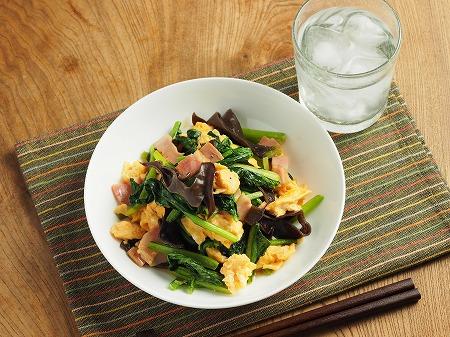 小松菜の卵炒め017