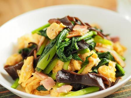 小松菜の卵炒め013